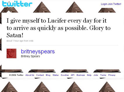 Britney Spears-Twitter-Satana