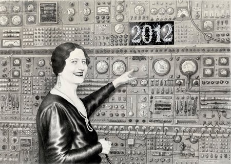 self destruction button - Laurie Lipton